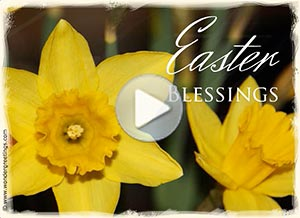 Easter ecard. Easter blessings