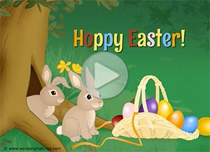 Imagen de Easter para compartir gratis. Hoppy Easter!