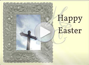 Easter ecard. Peace be with you