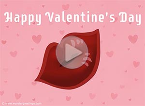 Imagen de Valentine's day para compartir gratis. Sending you a virtual kiss